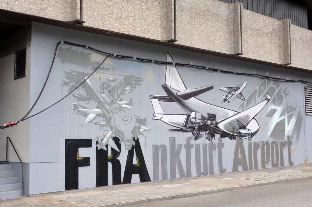 Graffiti am Airport Frankfurt