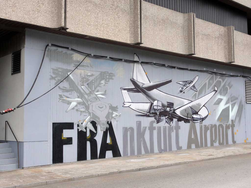 Graffiti am Airport Frankfurt