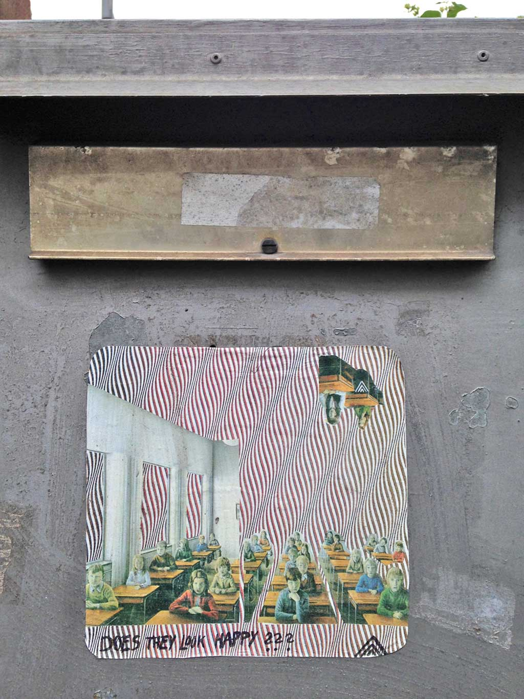 Collage-Streetart in Frankfurt