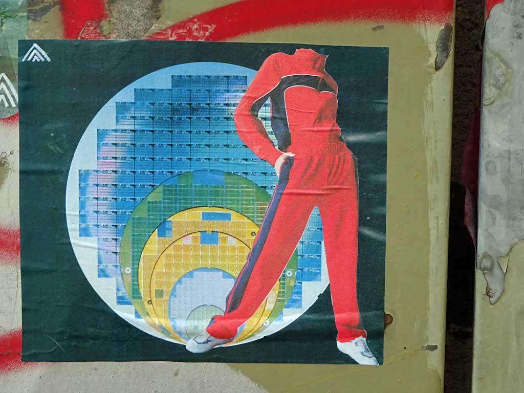 Collage-Streetart in Frankfurt