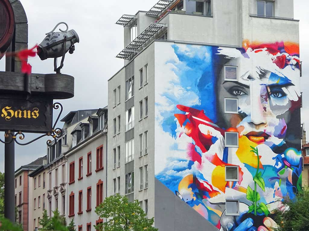 Cor - Let your life grow - Mural in Frankfurt