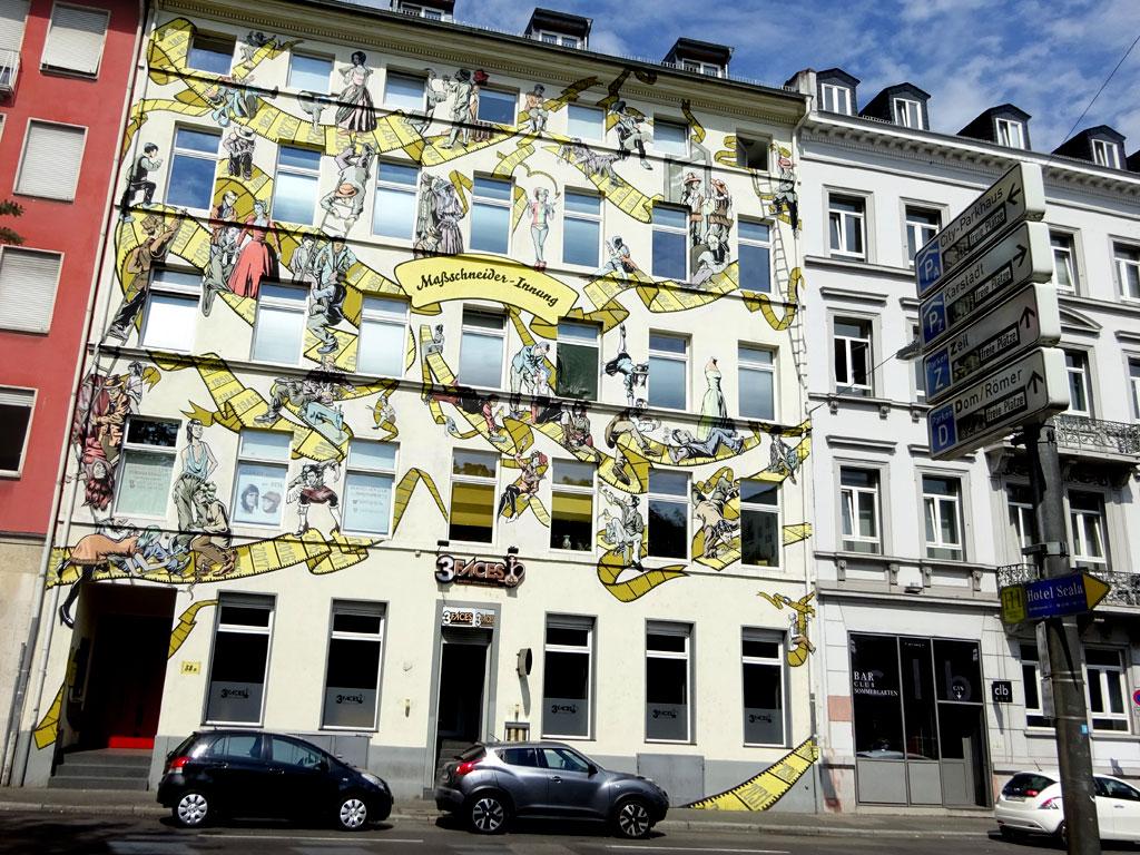 Wandbild in Frankfurt von Felix Gephart und Dominik Hebestreit