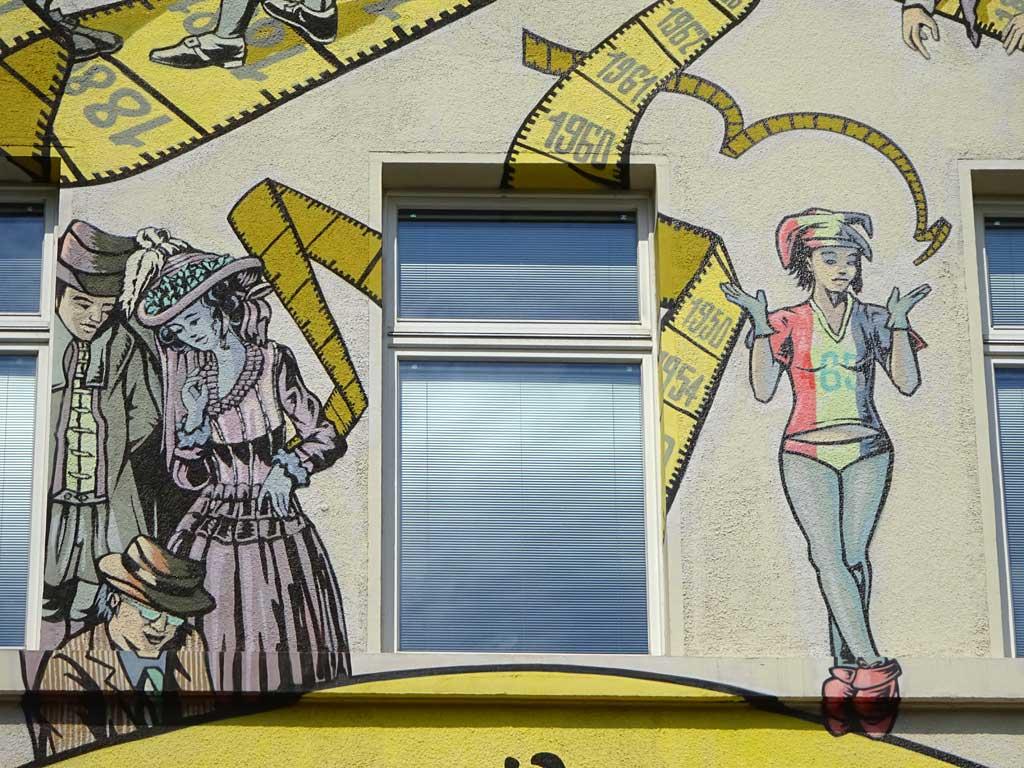 Graffiti in Frankfurt am Haus der Maßschneider-Innung