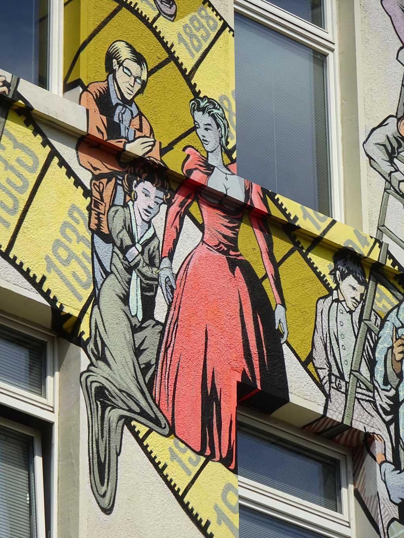 Mural-Art in Frankfurt am Haus der Maßschneider-Innung in Frankfurt