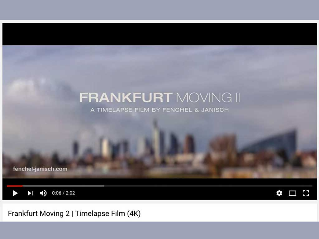Frankfurt Moving II - A timelapse Film by Fenchel & Janisch