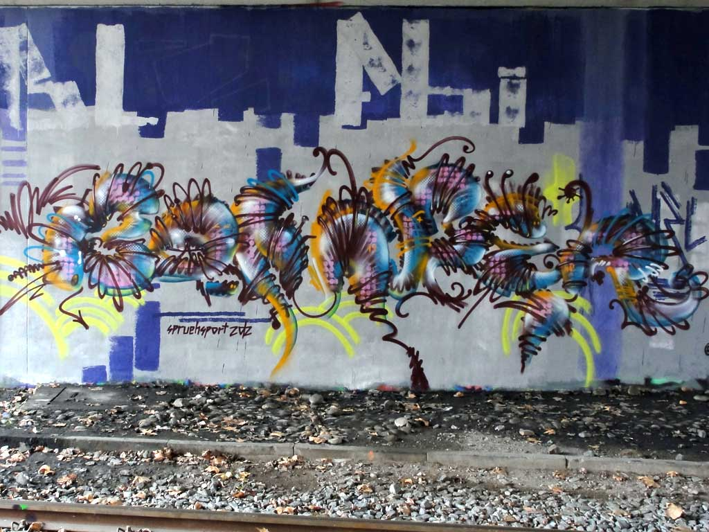 Graffiti in Frankfurt an der Friedensbrücke von BOMBER