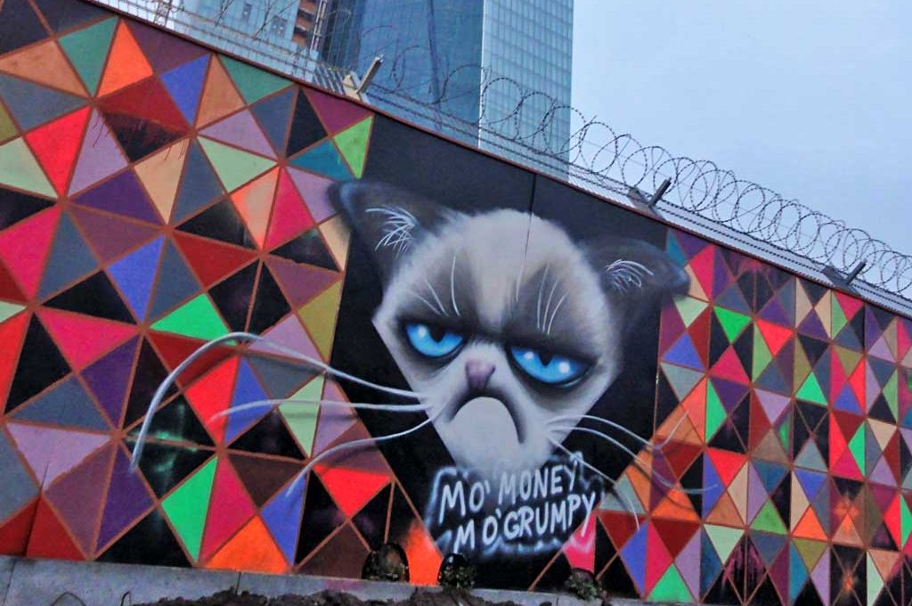 Grumpy-Cat-Graffiti in Frankfurt