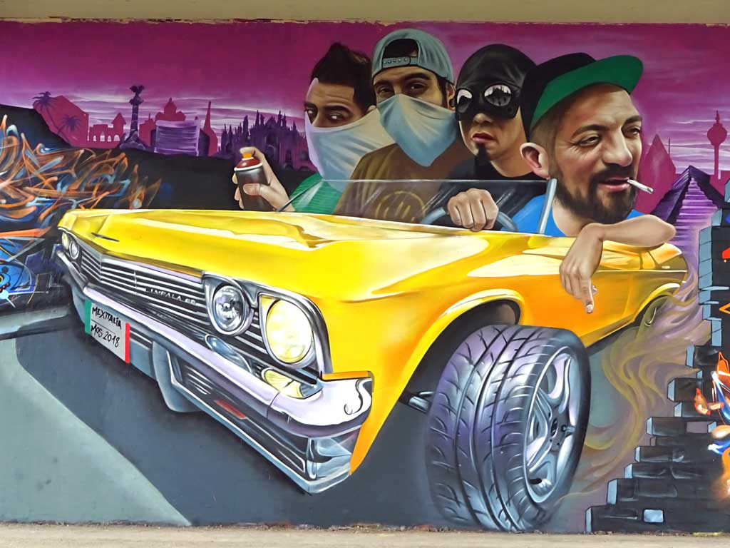Mexitalia-Wall beim Meeting Of Styles in Wiesbaden 2018