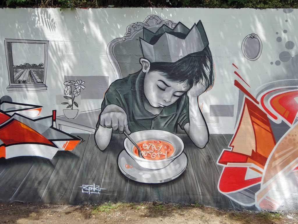 Graffiti von DATER, SPK und CANTWO beim Meeting of Styles 2018