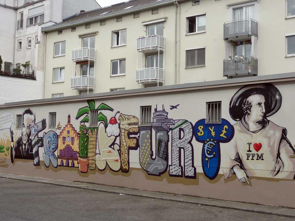 Frankfurt-Graffiti an der Kleinmarkthalle