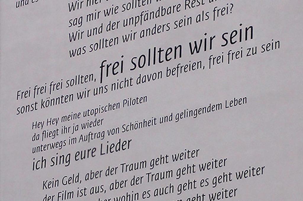 Peter Licht Songtext-Wandbild in Frankfurt