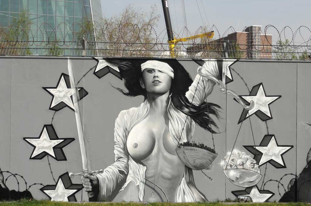 Graffiti in Frankfurt: No border