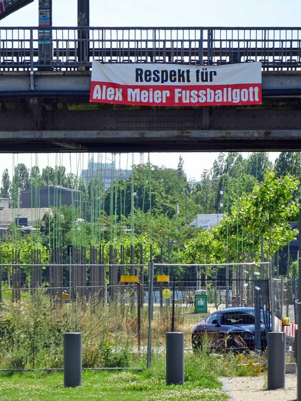 Banner: Respekt für Alex Meier Fußballgott