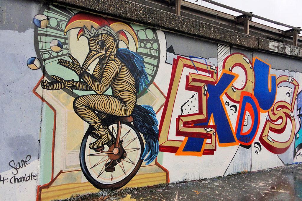 Sare-Graffiti in Frankfurt
