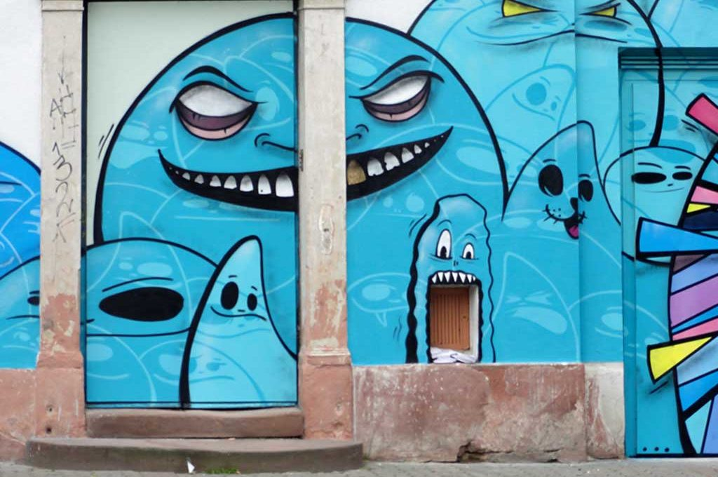 "Mural in Frankfurt - Spot x Il-Jin ""Atem"" Choi in der Berger Straße"