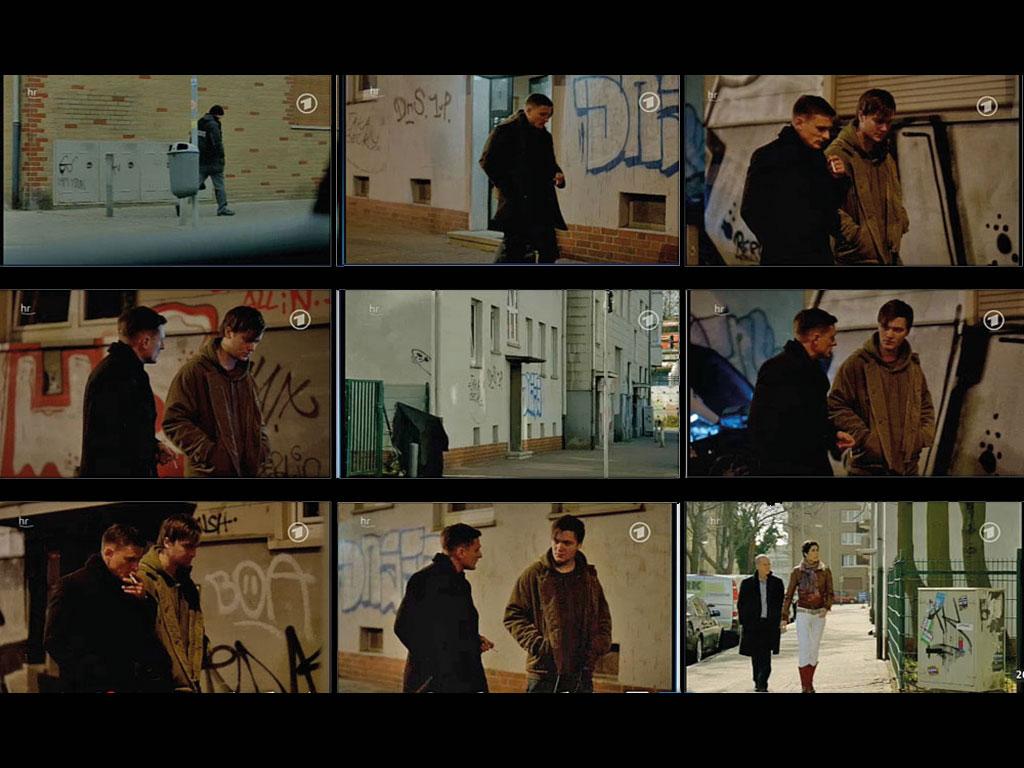 Szenen mit Graffiti im Frankfurt-Tatort