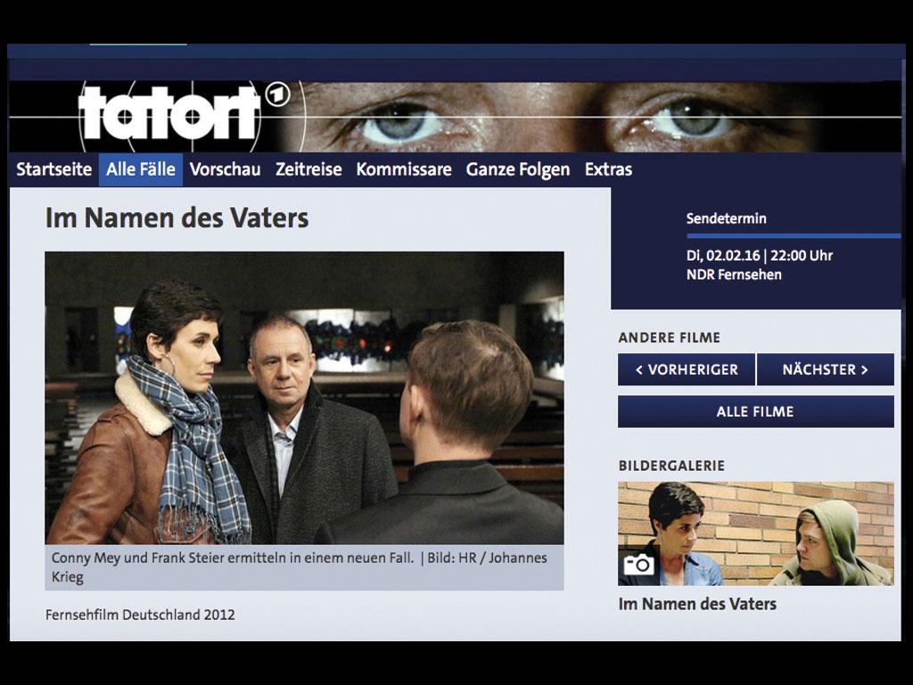 """Tatort """"Im Namen des Vaters"""""""