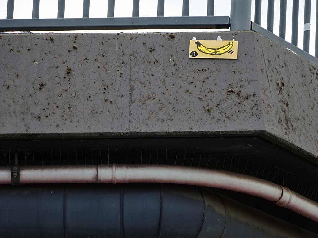Street-Art in Frankfurt mit Bananen-Motiven