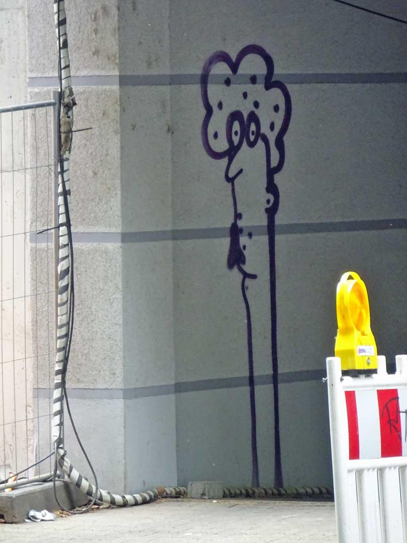 Spraypaint-Art in Frankfurt mit Gesichtern