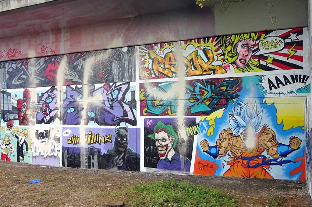 UF97 vs Graffiti Comic Wand am Niddapark