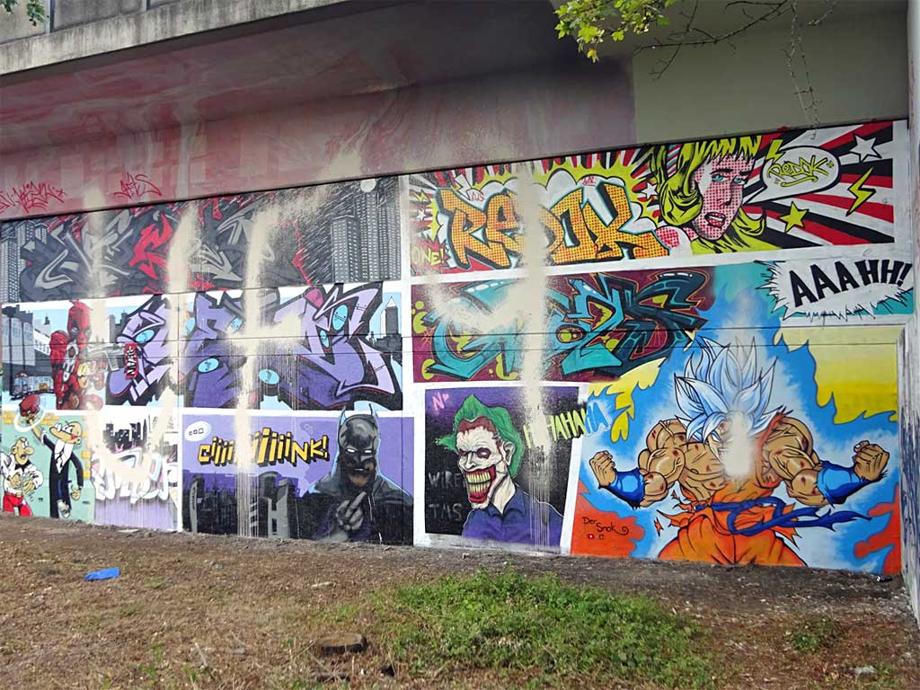 UF97 vs Graffiti Comic Wand am Niddapark