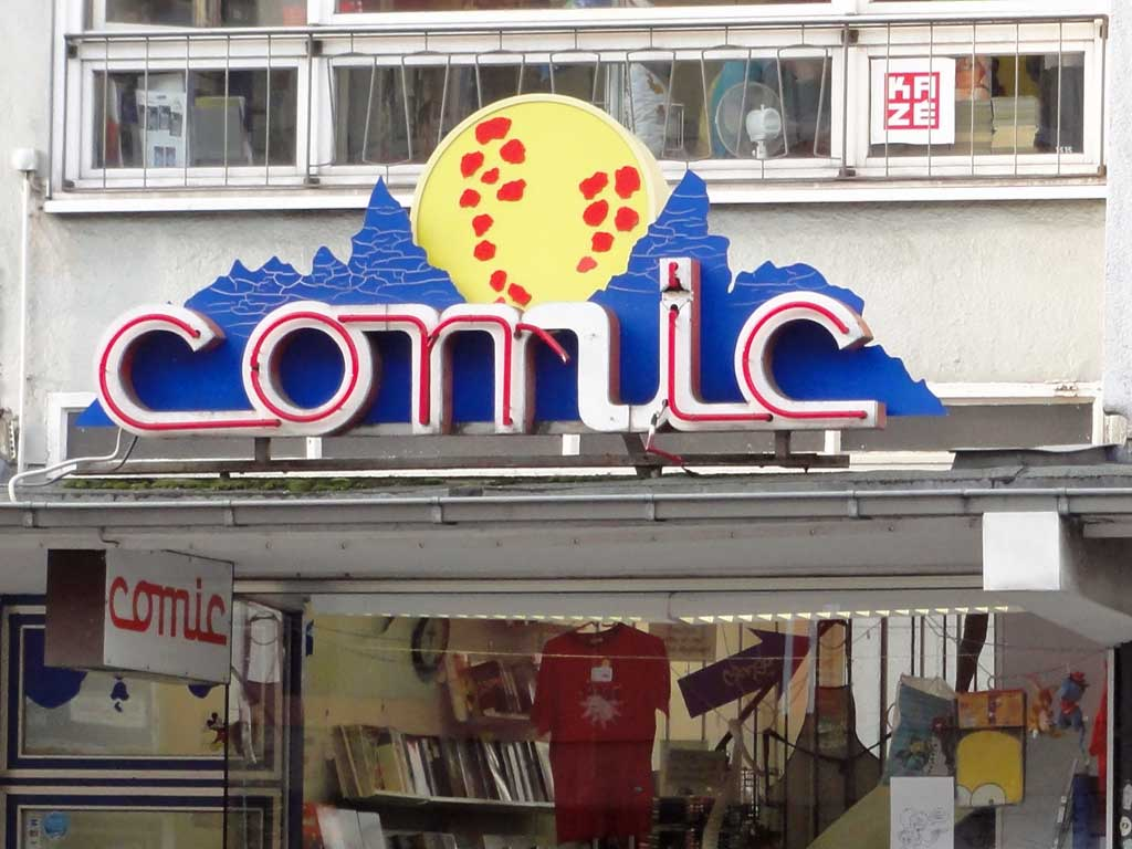 Comicladen in der Berliner Straße in Frankfurt