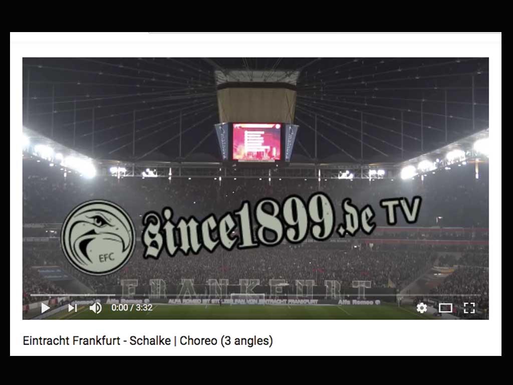 Eintracht Frankfurt - Choreo gegen Schalke