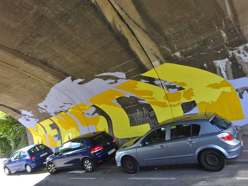 Graffiti Art in Frankfurt - Mensch Würde