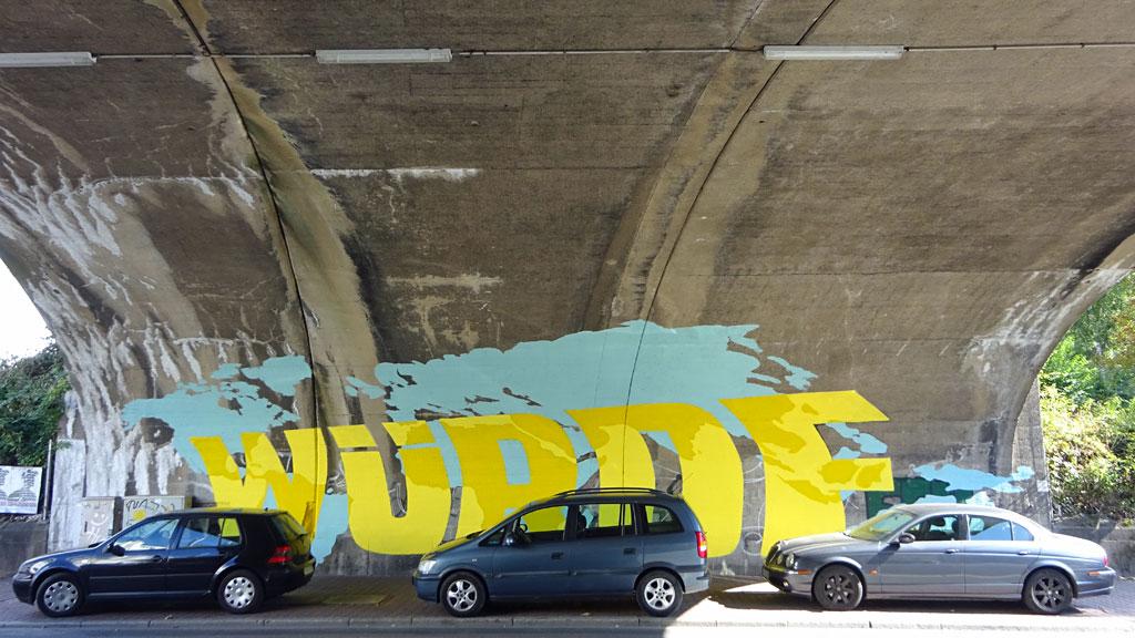 Mural Art in Frankfurt - Mensch Würde