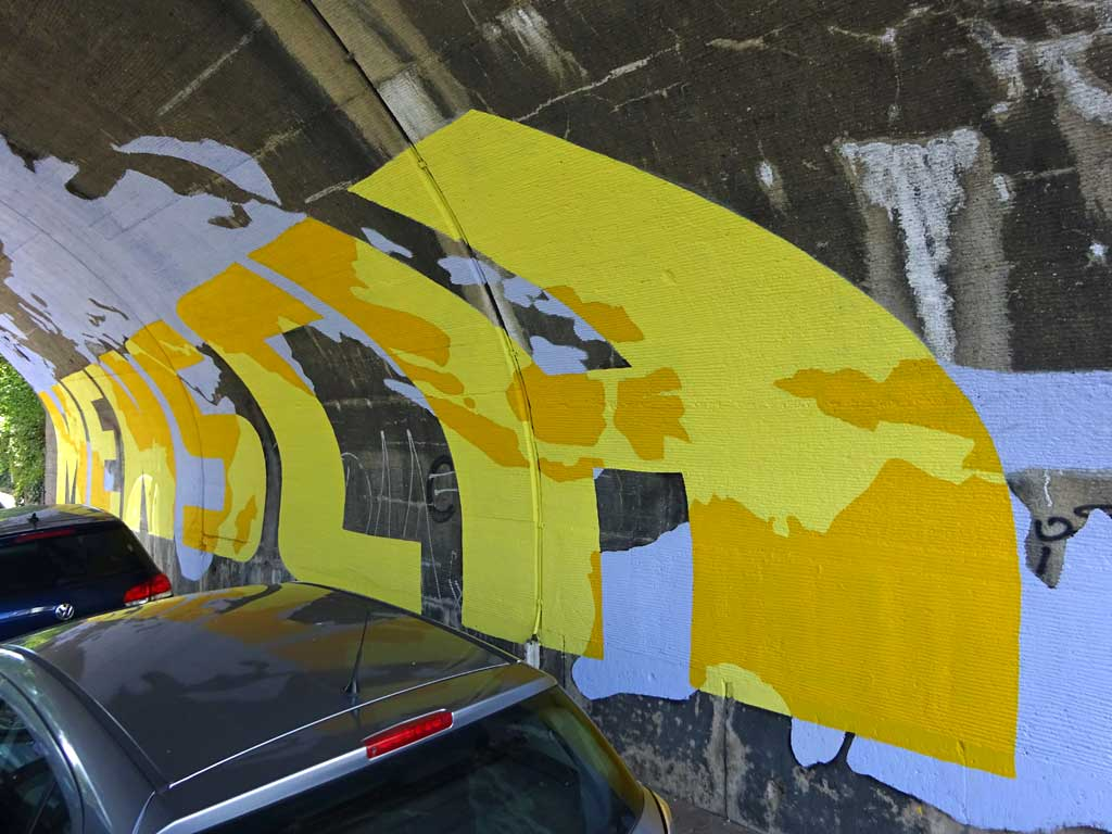 Urban Art in Frankfurt - Mensch Würde