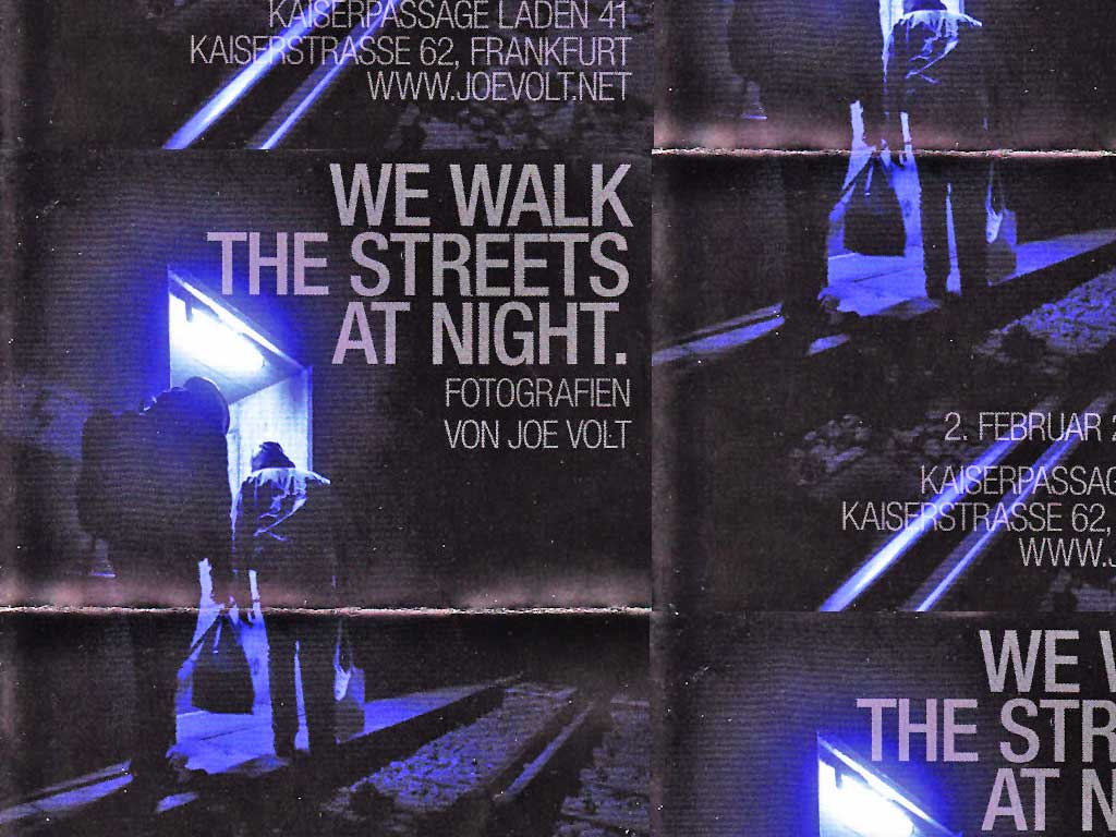 Joe Volt - We walk the Streets at night