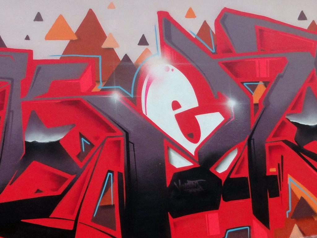 Graffiti von Kent bei der Hall of Fame