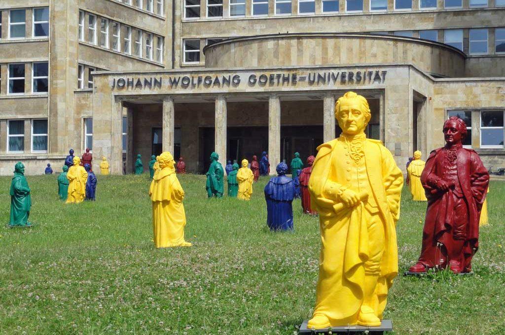 Public Art in Frankfurt - Goethe-Skulpturen