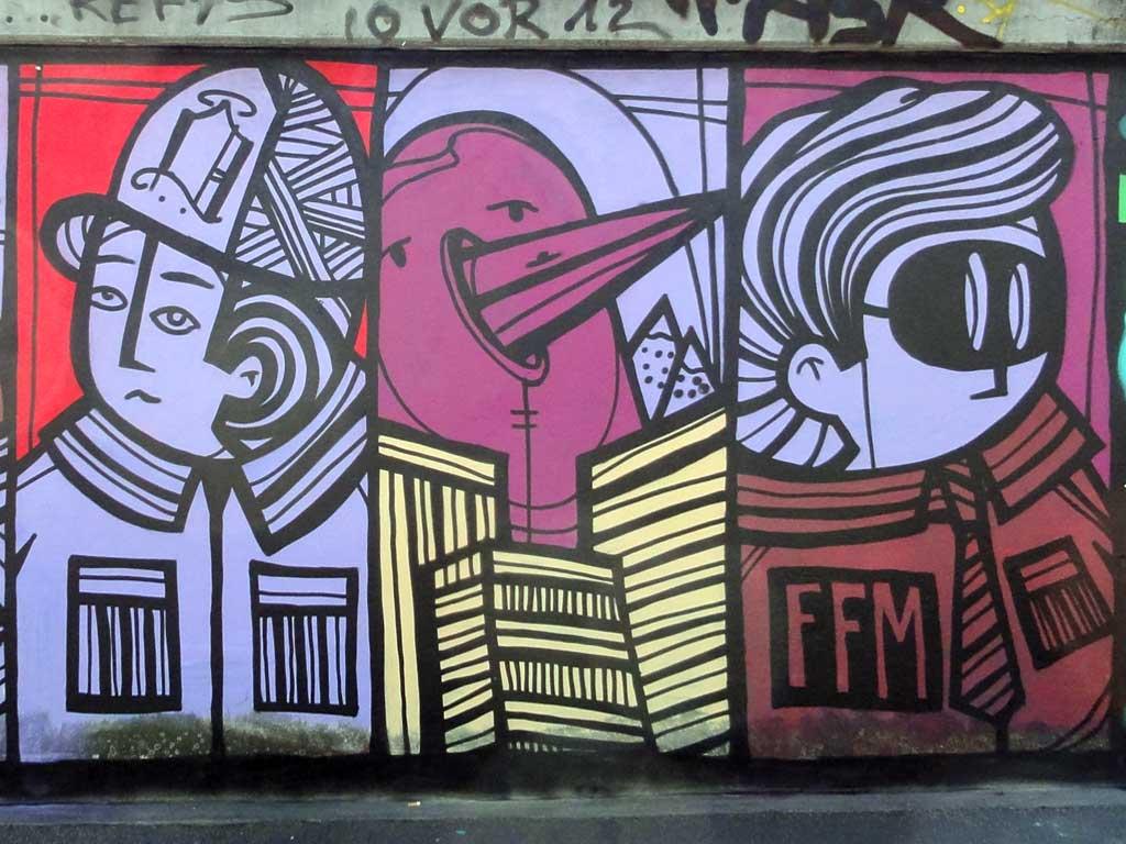 Graffiti von P.Y.C. bei der Hall of Fame