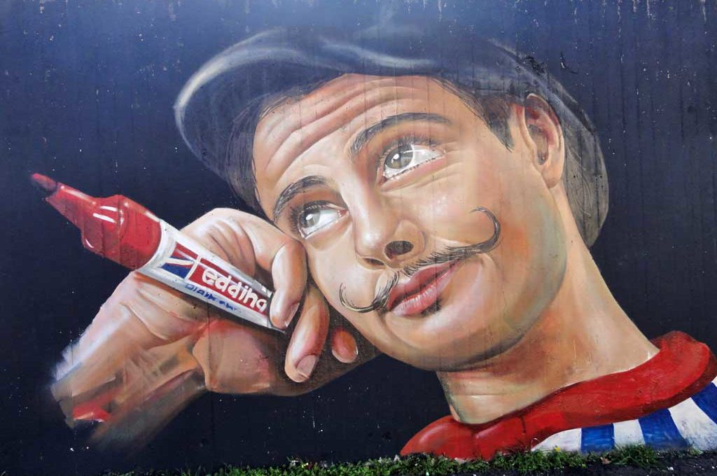 Photorealistic Graffiti-Art in Frankfurt