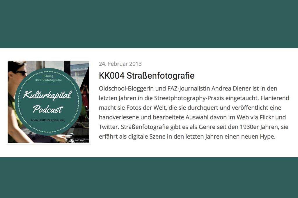Kulturkapital-Podcast Straßenfotografie