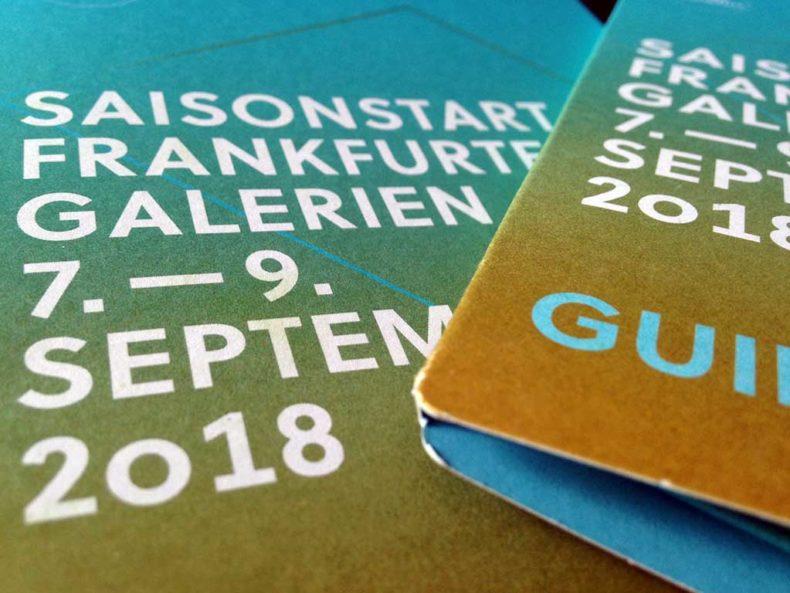 Saisonstart Frankfurter Galerien 2018
