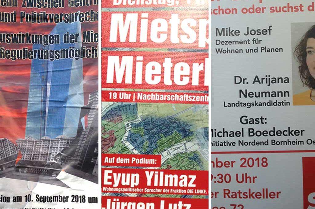 Wohnen in Frankfurt - Podiumsdiskussionen und Gespräche