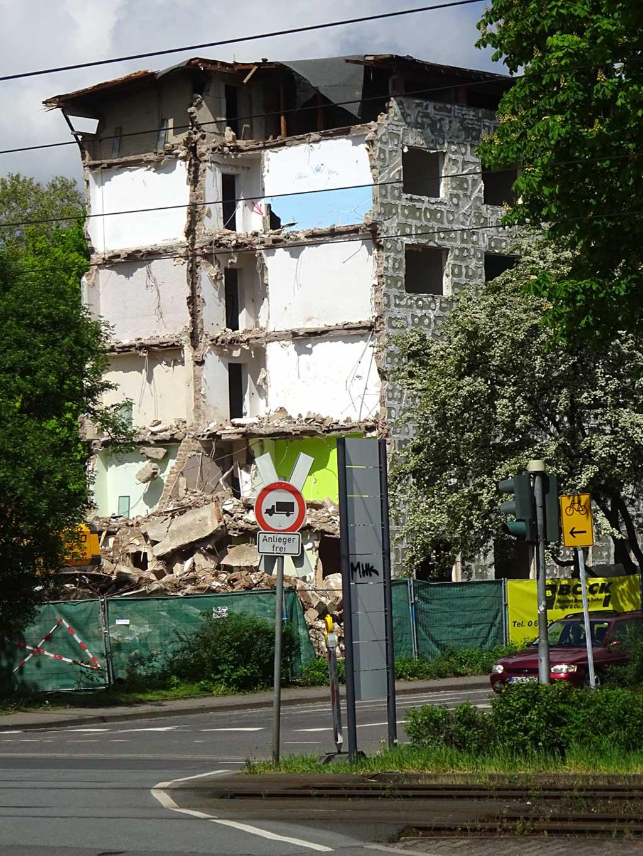 Abbrucharbeiten in Frankfurt