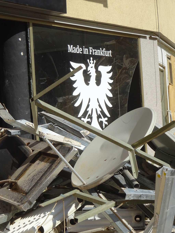 Abbrucharbeiten im Allerheiligenviertel in Frankfurt am Main