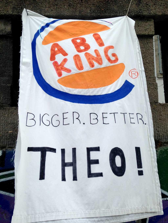 Abi-Banner in Frankfurt - Abi King