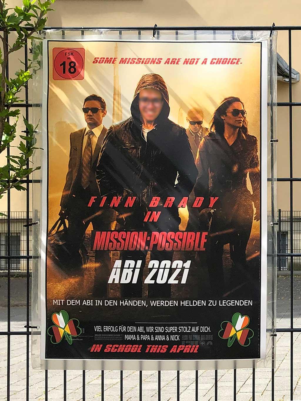 Abi-Banner in Frankfurt - Mission Possible