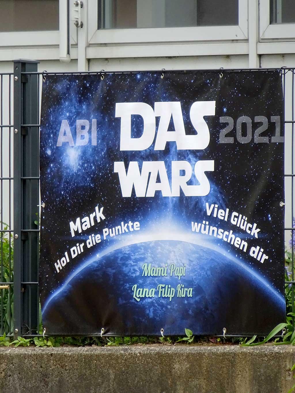 Abi-Banner in Frankfurt - Das Wars