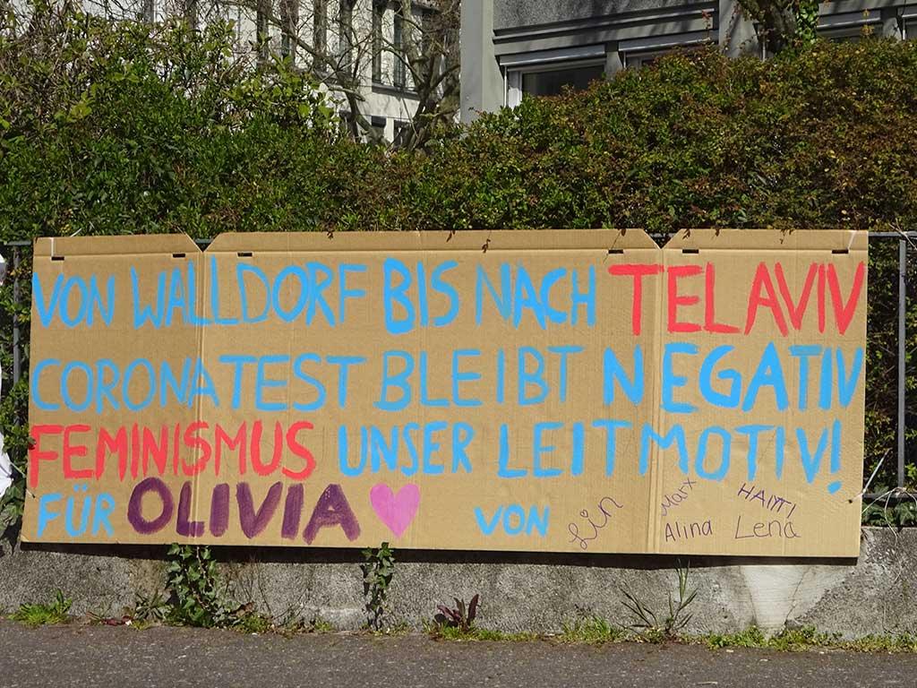 Abi-Banner in Frankfurt - Feminismus unser Leitmotiv