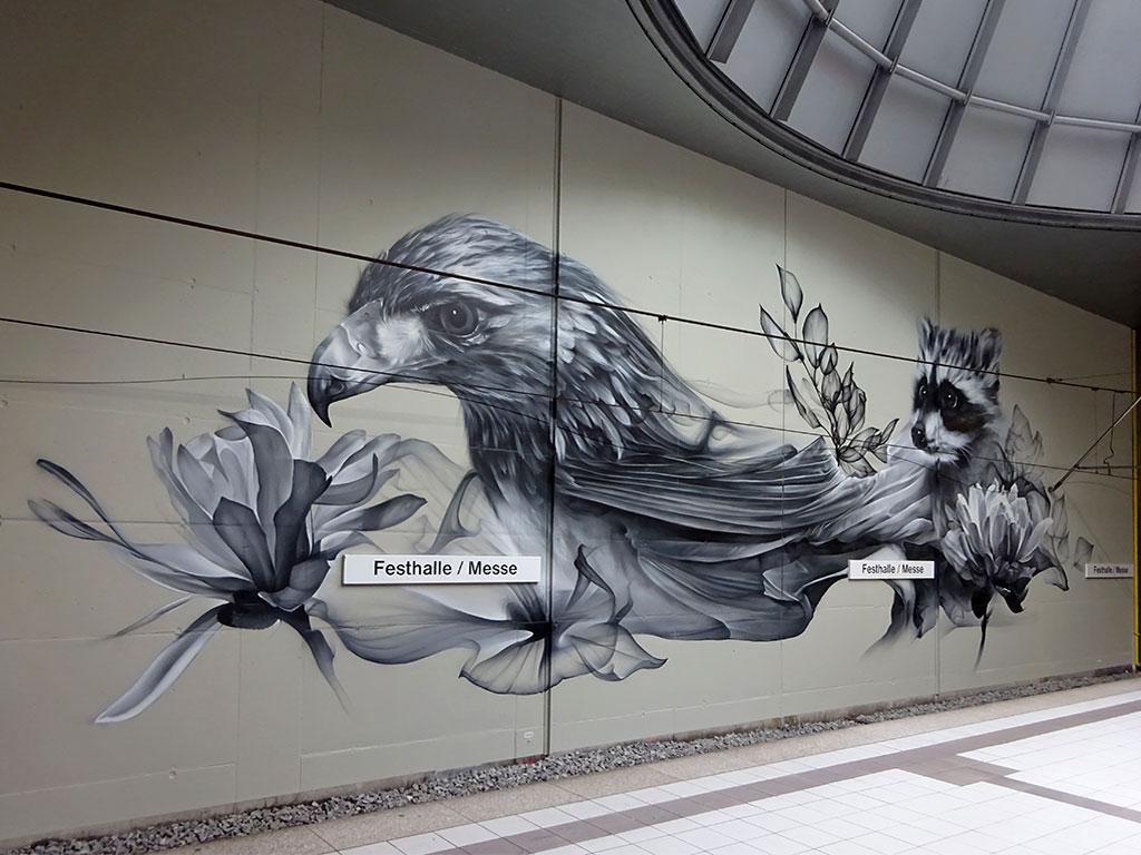 Alex Lazich alia Bacon - Mural Art in Frankfurt