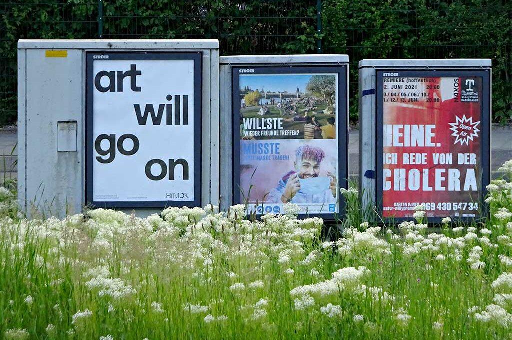 art will go on - Plakat der HfMDK Frankfurt
