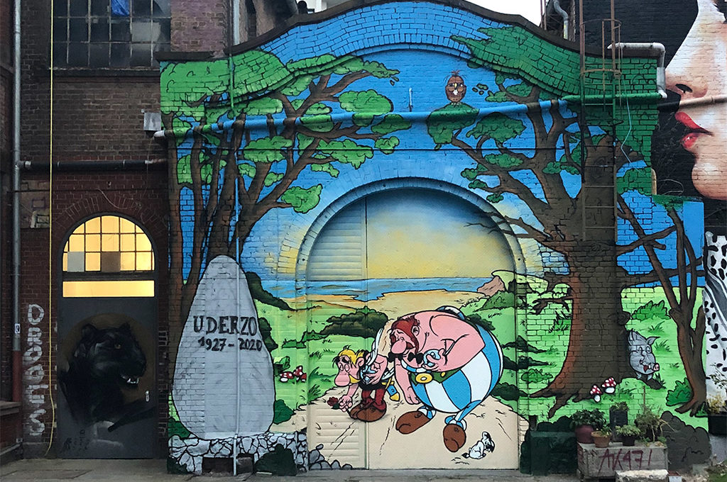 Asterix und Obelix - Mural Art in memorian Albert Uderuzo