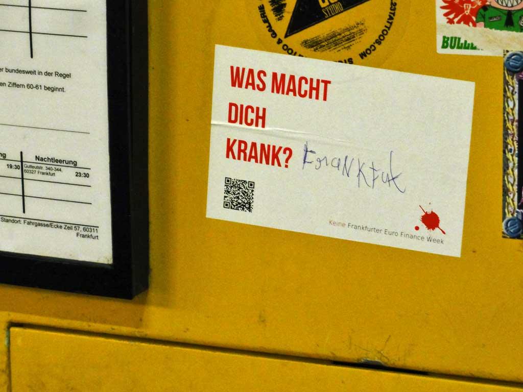 Was macht dich krank? Frankfurt