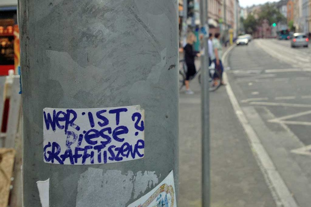 Wer ist diese Graffitiszene?