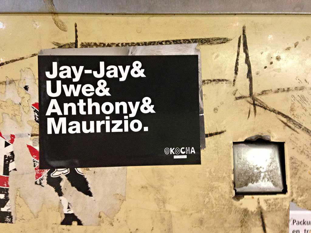 Okocha Records - Aufkleber mit Jay-Jay & Uwe & Anthony & Maurizio